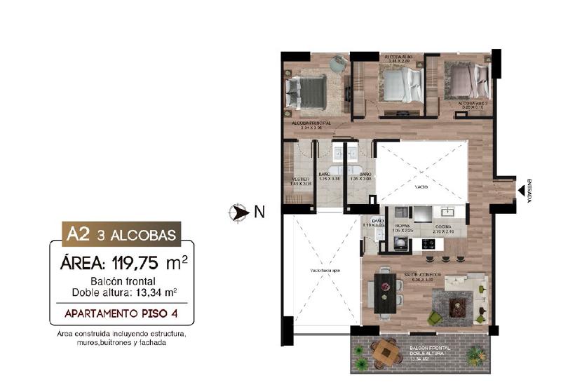 Monet - Proyecto de apartamentos en venta en Calazans - Medellin
