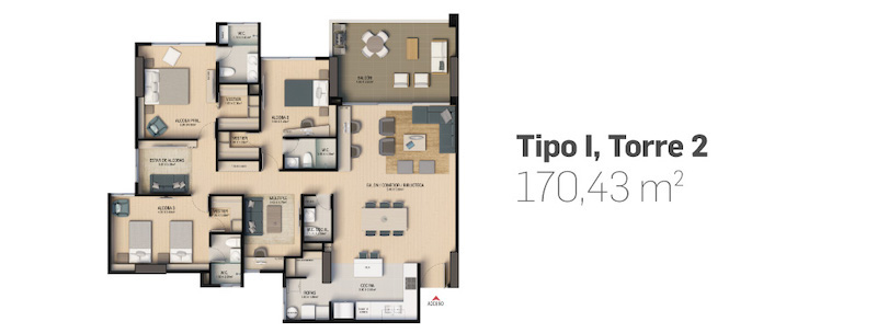 NOGALES -SOLD OUT- Proyecto de apartamentos en venta en Envigado